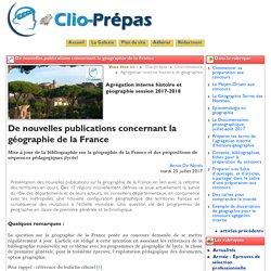 Geographie de la France et exploitations pédagogiques (classe de Première géographie)