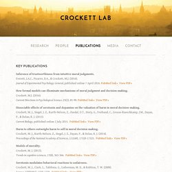 Publications — Crockett Lab
