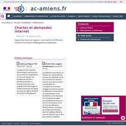 Publications - Chartes et demandes Internet