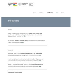 Publications - Design Policy Lab
