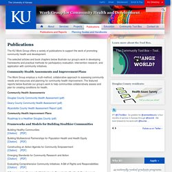 Publications | Work Group for Community Health and Development