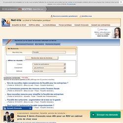 Fiscalité : publications juridiques disponibles sur Net-iris