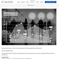 Publications - Dr. David Rock