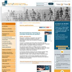 DSU > Autres publications