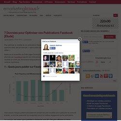 7 Données pour Optimiser vos Publications Facebook [Etude]