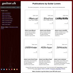 Guitar Lovers publications about guitar playing