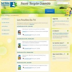 Les Feuilles Du Tri / Publications / Accueil - Sud Rhone Environnement