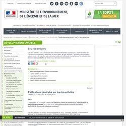 Publications générales sur les éco-activités