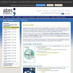 Journées ABES – Publications / Evénements