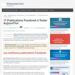 ▶ 15 Publications Facebook à Tester Aujourd'hui