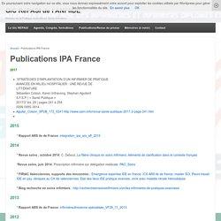 Publications IPA France