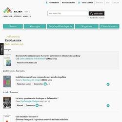 Publications de Ève Gardien sur Cairn.info