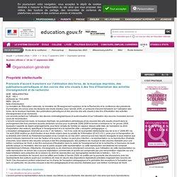 Protocole d'accord transitoire sur l'utilisation d'oeuvres - BO n° 34 du 17 septembre 2009 - MENJ0900756X