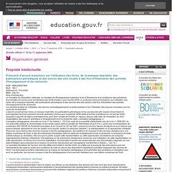 Protocole d'accord transitoire sur l'utilisation des livres, de la musique imprimée, des publications périodiques et des ouvres des arts visuels à des fins d'illustration des activités d'enseignement et de recherche - MENJ0900756X - Ministère de l'éducati