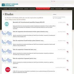 Recherche & Publications - Crédit Foncier Immobilier