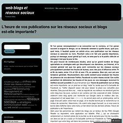 L'heure de vos publications sur les réseaux sociaux et blogs est-elle importante? « FM_Community Management et Référencement