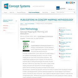 Publications > Concept Mapping > Concept Systems Incorporated