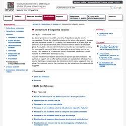 Publications et services - Indicateurs d'inégalités sociales