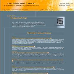 Deleporte Wentz Avocat: Actualités et publications: internet, e-commerce, informatique