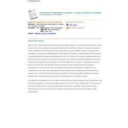 INSPQ 11/03/11 Surveillance de l'hypertension au Québec : incidence, prévalence et mortalité
