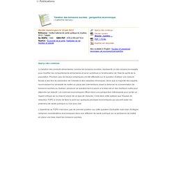 INSPQ (Québec) 13/06/12 Taxation des boissons sucrées : perspective économique