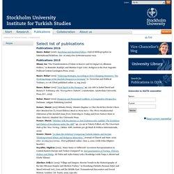 Publications - Institute for Turkish Studies