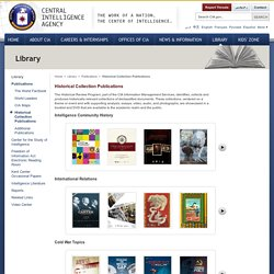Historical Collection Publications