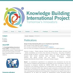 Publications | Knowledge Building International Project