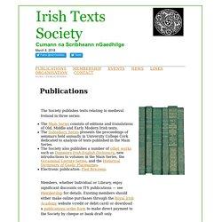 Irish Texts Society