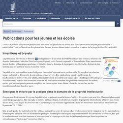 Publications pour les jeunes et les écoles