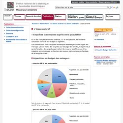 Publications - L'Insee en bref