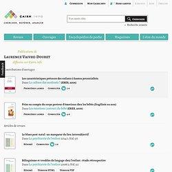 Publications de Laurence Vaivre-Douret sur Cairn.info