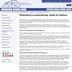 Publications in Librarianship: Guide for Authors