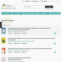 Publications de Matthieu Leprince sur Cairn.info