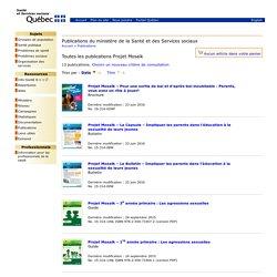 Publications du ministère de la Santé et des Services sociaux