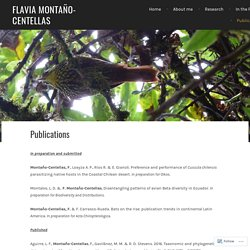 Publications – Flavia Montaño-Centellas