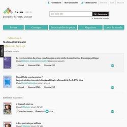 Publications de Naïma Ghermani sur Cairn.info