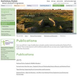 Publications: National Parks UK