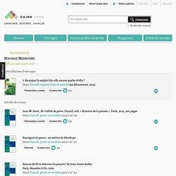 Publications de Nicole Mosconi sur Cairn.info