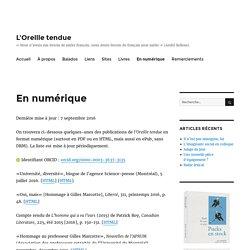 Publications numériques de Benoît Melançon