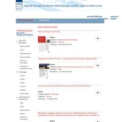 Publications - Observatoire régional de santé Île-de-France - 15 rue Falguière 75015 Paris - Tel : 01 77 49 78 60 - ors-idf
