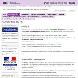 Journal officiel (JORF) - Publications officielles France