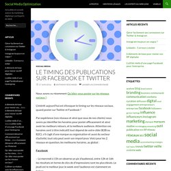 Le timing des publications sur Facebook et Twitter