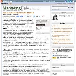 Publications Passionate Leaders Build Passionate Brands 05/14