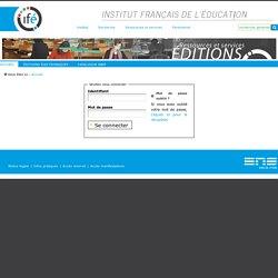Revue française de pédagogie : recherches en éducation