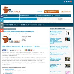 Publications pédagogiques francophones