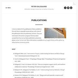 Publications – Peter Dalsgaard