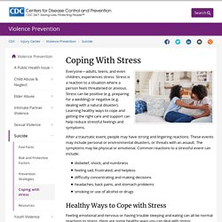 Tips for Coping with Stress
