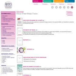 Publications (rapports et articles, questions d'économie de la santé, documents de travail, bases de données, thèses et mémoires)