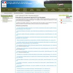 Publications du recensement agricole 2010 en Bourgogne - DRAAF de Bourgogne